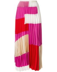 Marni - Colour Block Pleated Skirt - Lyst