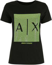 Armani Exchange ロゴ Tシャツ - ブラック