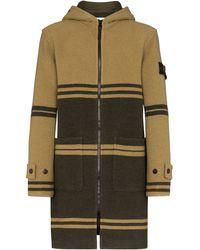 Stone Island Manteau à capuche à rayures - Vert