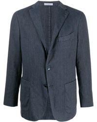 Boglioli Lightweight Buttoned Blazer - Blue