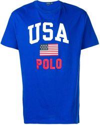 Polo Ralph Lauren Usa プリント Tシャツ - ブルー