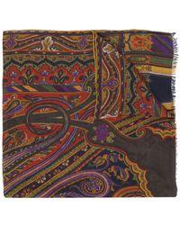 Etro Sciarpa con stampa paisley - Multicolore