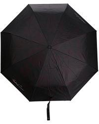 Richard Quinn Paraplu Met Logoprint - Zwart
