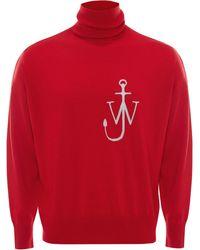 JW Anderson Водолазка С Вышивкой Anchor - Красный