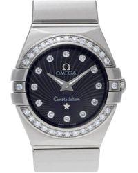 Omega Constellation Black Steel Watches