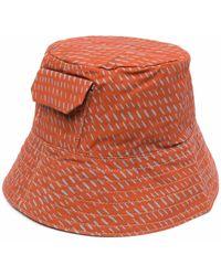 Ally Capellino Sombrero de pescador con logo bordado - Marrón
