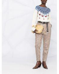 Etro Джемпер С Цветочным Принтом - Белый