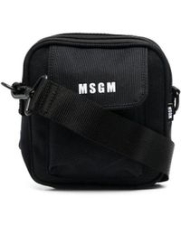 MSGM Micro-logo Messenger Bag - Black