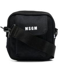MSGM ロゴ メッセンジャーバッグ - ブラック