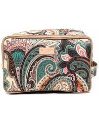 Etro Paisley-print Logo-patch Makeup Bag - Multicolour