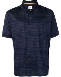 Paul Smith ニット ポロシャツ - ブルー