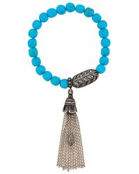 Loree Rodkin - Turquoise Oxidized Sterling Silver and Diamond Bracelet - Lyst