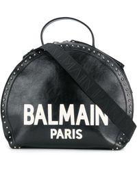 Balmain Сумка-тоут 'paris' С Логотипом И Заклепками - Черный