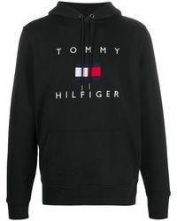 Tommy Hilfiger ロゴ パーカー - ブラック