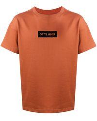 Styland ロゴ Tシャツ - オレンジ