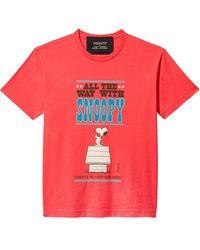 Marc Jacobs Футболка The T-shirt Из Коллаборации С Peanuts - Красный