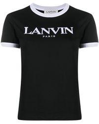 Lanvin ロゴ Tシャツ - ブラック