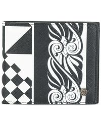 Versace - Printed Foldover Wallet - Lyst