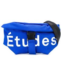 Etudes Studio ロゴ ベルトバッグ - ブルー