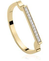 Monica Vinader Ring Met Diamant - Metallic