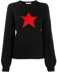 Bella Freud スターインターシャ セーター - ブラック