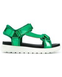 P.A.R.O.S.H. - Laminated Platform Sandals - Lyst