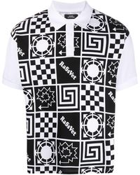 Rassvet (PACCBET) プリント ポロシャツ - ブラック