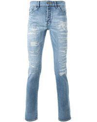 HL Heddie Lovu Distressed Skinny Jeans - Blauw