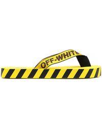 Off-White c/o Virgil Abloh Шлепанцы С Логотипом - Желтый