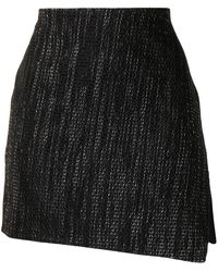 Maticevski Asymmetric Mini Skirtq - Black