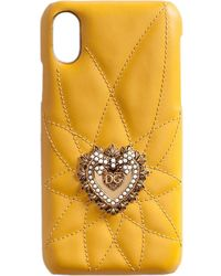 Dolce & Gabbana Чехол Devotion Для Iphone X - Желтый