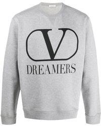 Valentino Sweater Met Ronde Hals - Grijs