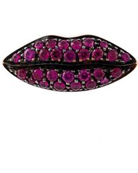 Delfina Delettrez 'lips' Ruby Earring - Rood