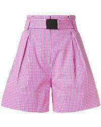 N°21 - Designer Checked Shorts - Lyst