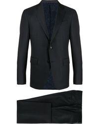 Etro シングル ツーピーススーツ - ブルー
