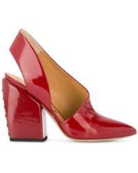 Petar Petrov Zapatos de tacón con tira trasera - Rojo