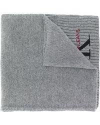 Calvin Klein Шарф С Вышитым Логотипом - Серый