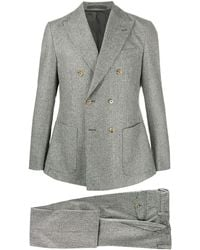 Eleventy チェック スーツ - グレー
