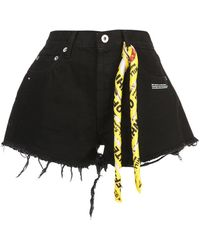 Off-White c/o Virgil Abloh - Twisted Scarf Detailed Denim Shorts - Lyst