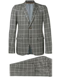 Gucci Monaco Suit Bee Check - Gray