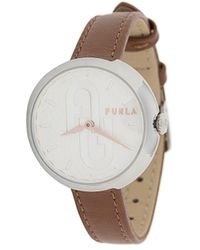 Furla Bubble Leather Strap Watch - Brown