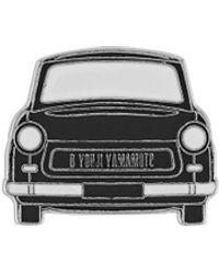 Yohji Yamamoto Car Embellished Brooch - Black