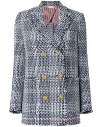 Thom Browne - Double Breasted Sack Jacket - Lyst