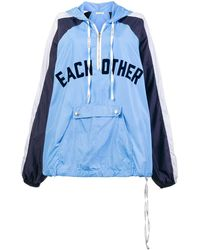 Each x Other Front Logo Rain Hoodie - ブルー