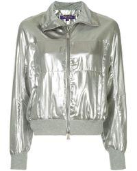 Ralph Lauren Collection - Metallic Zipped Bomber Jacket - Lyst