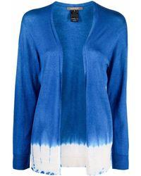 Suzusan Maglione con fantasia tie dye - Blu