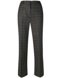 Weekend by Maxmara - Check Print Cropped Trousers - Lyst