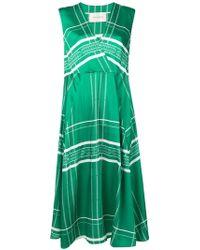 Cedric Charlier パターン ドレス - グリーン