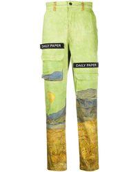Daily Paper X Van Gogh カーゴパンツ - グリーン