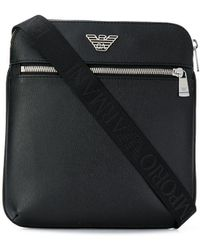 Emporio Armani Logo Messenger Bag - Black